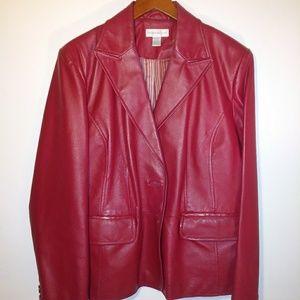 Worthington Red Leather Ladies Size XL